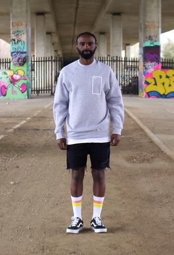 Frame print sweatshirt in Grey