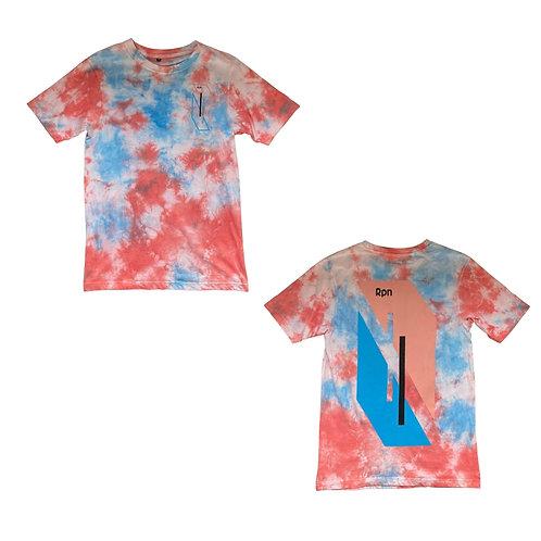oversized t-shirt in tie dye with Hyper Geo 2 print