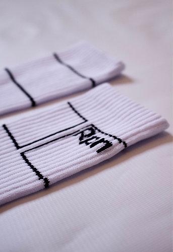 white sports socks with white stripes