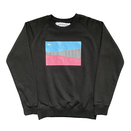 black sweater with CWI 2 front print