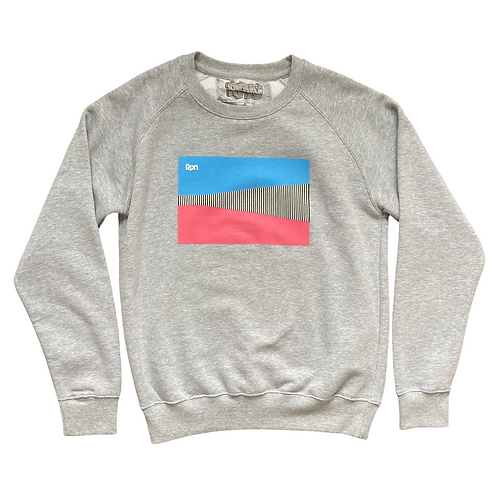 grey sweater with CWI 2 front print