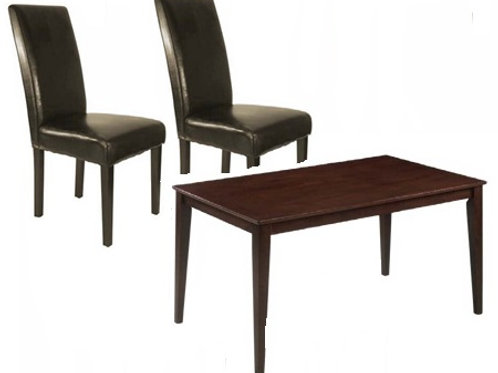 Zara Dining Table with 4 Person Half Back Chair