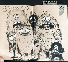 #dailysketch Monsters in the #sketchwall