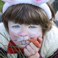 The White Rabbit ate his carrot.