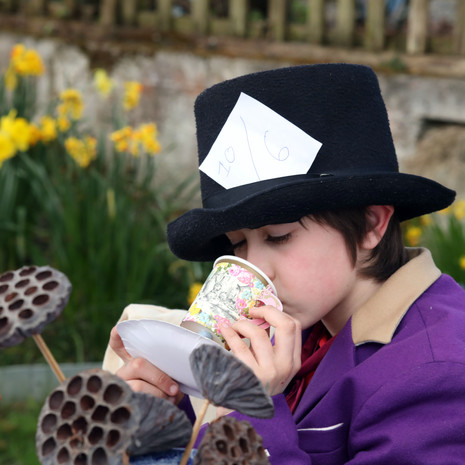 The Mad Hatter gulped down lots of tea.