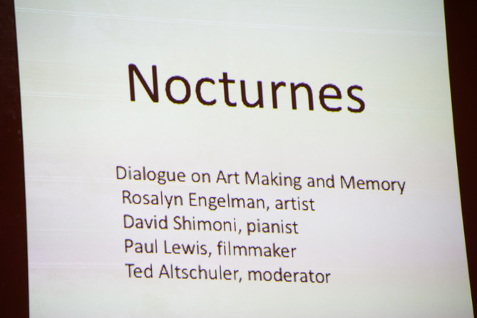 Nocturnes - Dialogue on Art Making and Memory with Rosalyn Engelman