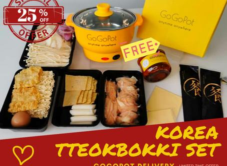 Attention korea oppa-lover! RM20 off over KOrea Tteokbokki set
