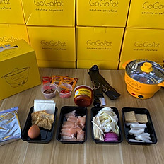 Korean tteokbokki package with Yellow Pot