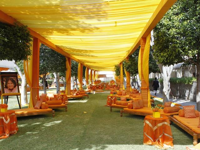 haldi decoration at wedding