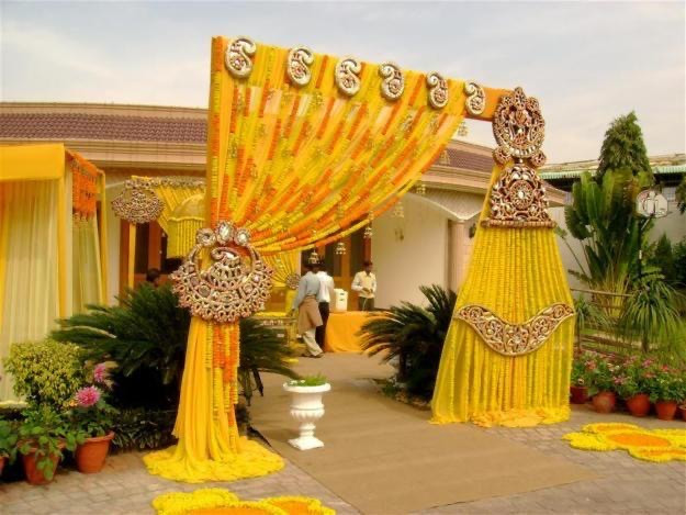 Haldi Decoration in weddings