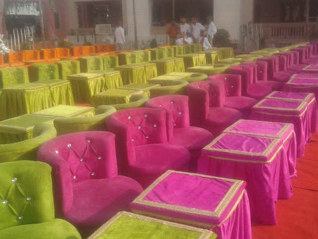colorful seating options