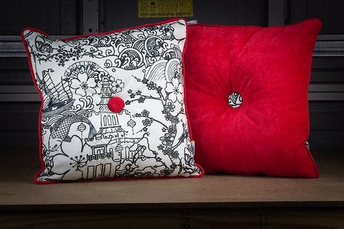 Red Pop Art - Throw  Pillow w/ Insert