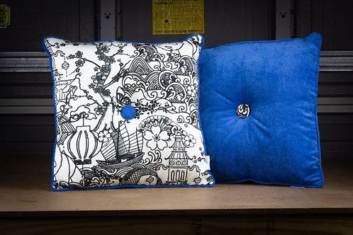 Blue Pop Art - Throw  Pillow w/ Insert