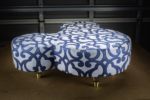 The Royal w/ Glass Slippers - Large Mickey Ottoman