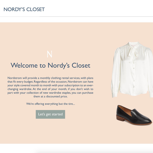 Designing A Clothing Subscription Service for Nordstrom