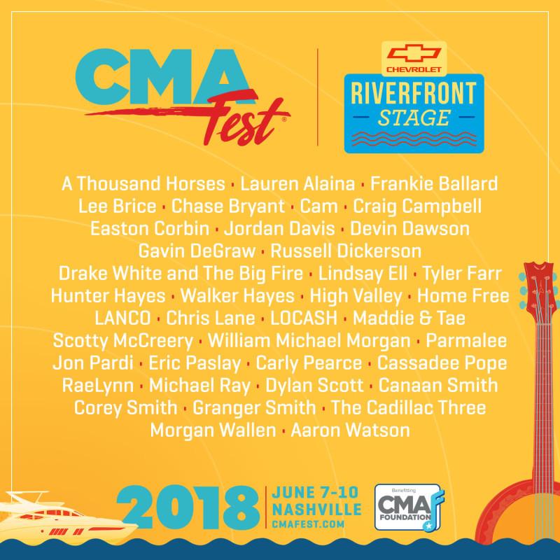 CMA Fest Riverfront Stage 2019