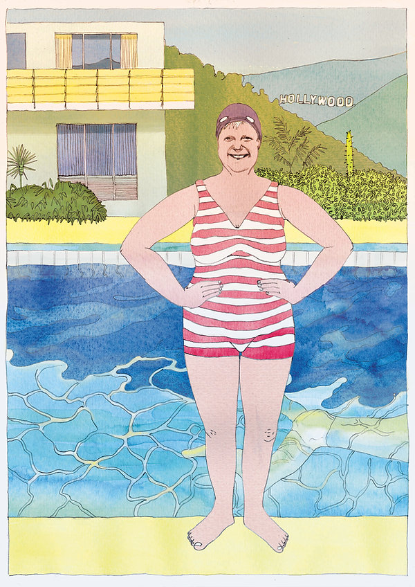 Angela Merkel - David Hockney