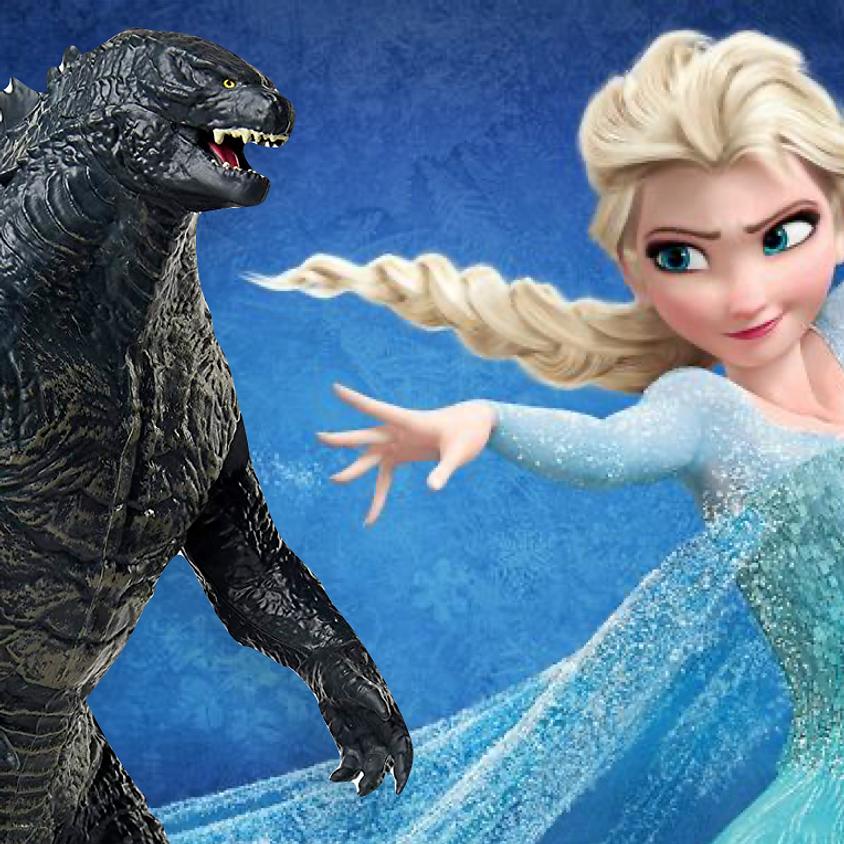 Frozen/Godzilla Double Feature Ticket