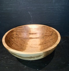 Round Maple Bowl 17 in
