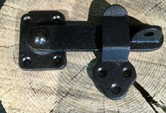 Door Latch Black Swing