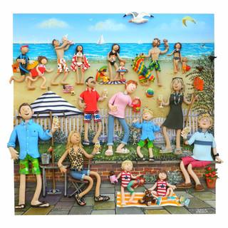 Beach garden portrait
