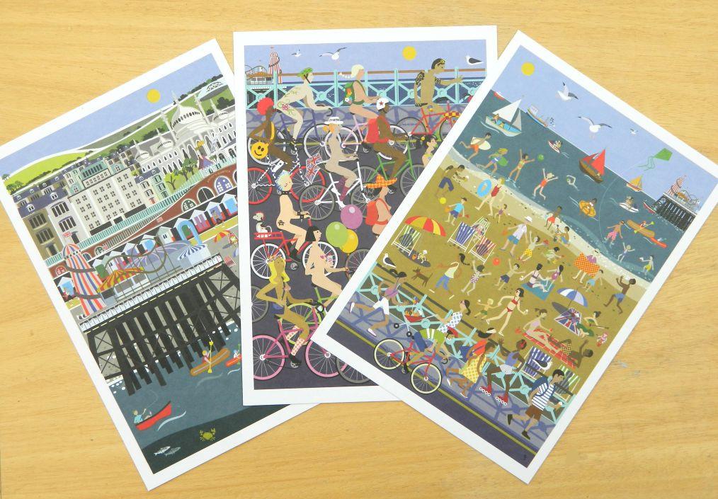 Brighton large postcards