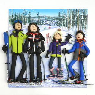 Family Ski portrait