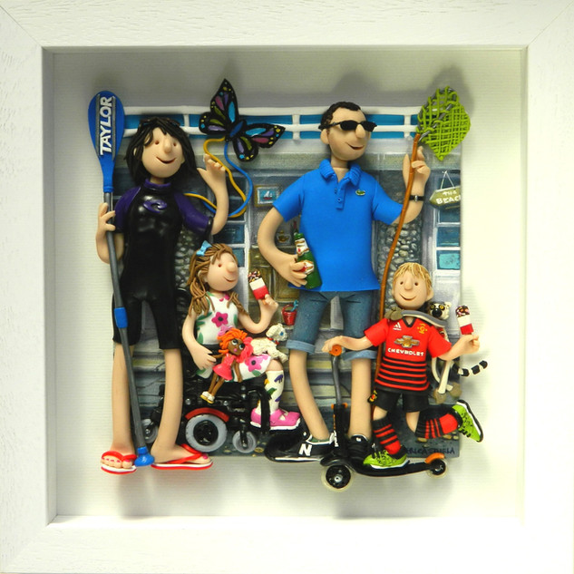 Beach Chalet Family Portrait