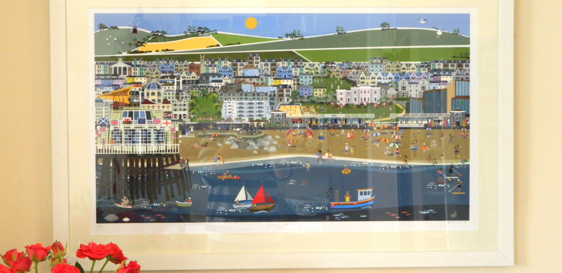 Sunny Worthing print shown framed