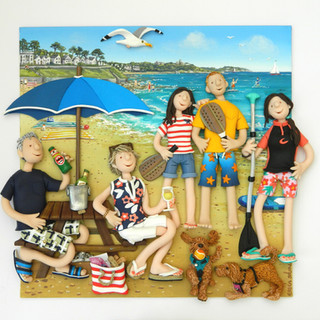 Cornish beach Family portrait