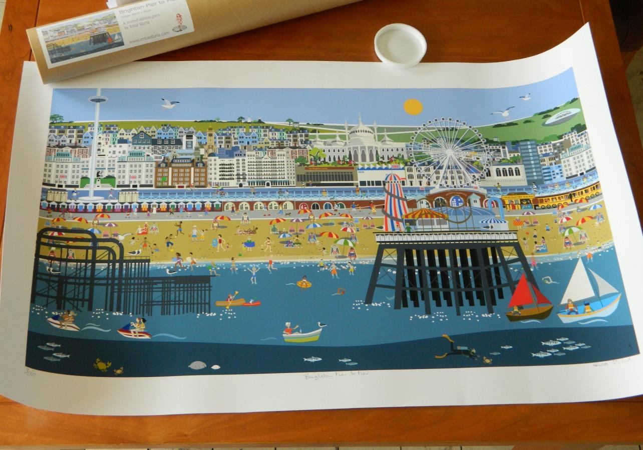 Brighton Pier to Pier limited edition print