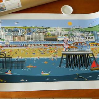 Brighton Pier to Pier limited edition prints