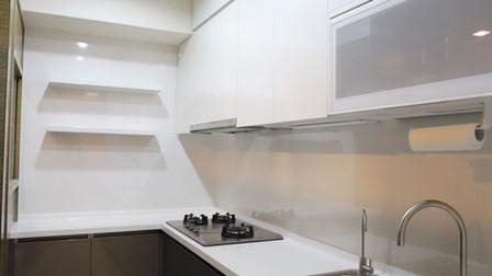 鏡面鋼板L型廚房