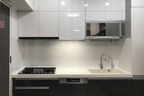 【高雄H.HOUSE】廚房上下櫃牆面背板安裝