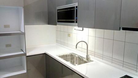 【屏東】L型廚房鏡面鋼板