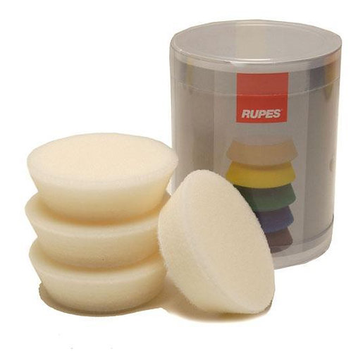 Rupes Bigfoot Nano iBrid 70mm (2.75in) White Finishing Foam Pad 4 Pack