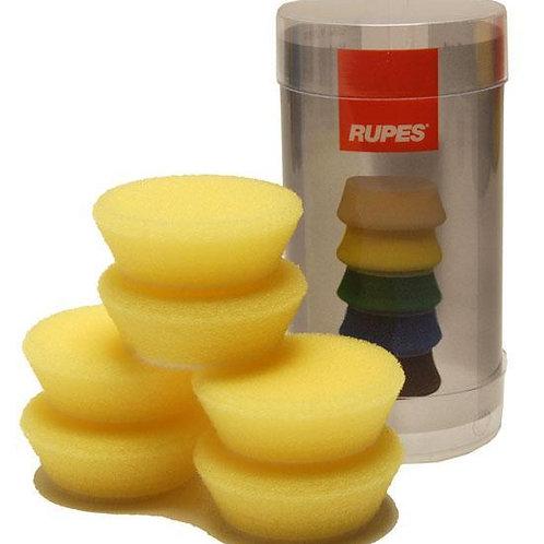 Rupes Bigfoot Nano iBrid 40mm (1.5in) Yellow Polishing Foam Pad 6 Pack