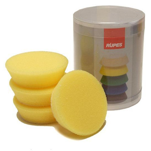 Rupes Bigfoot Nano iBrid 70mm (2.75in) Yellow Polishing Foam Pad 4 Pack