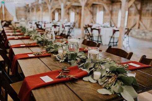 Table garland  photo credit: Jordan Ruffner Photography