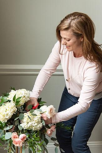 Julie Sturgeon owner/designer at The Fresh Blossom  photo credit: Tobi's Timeless Treasures