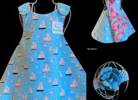 Handmade Regatta Sailboats Theme Dress
