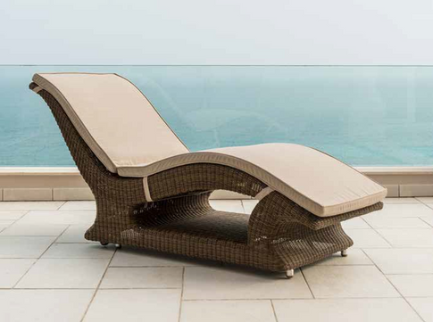 Lucena Raised Sunlounger with Cushion