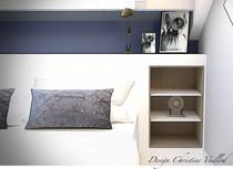 Détail meuble tête de lit