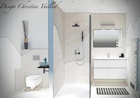 Salle de bain coloris sable