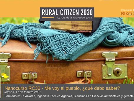 ¡Descubre las claves para vivir y emprender en el mundo rural con Nanoformación RC30!