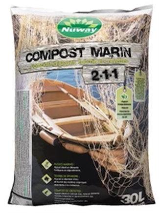 compost marin pour jardin et jardinière 30 L