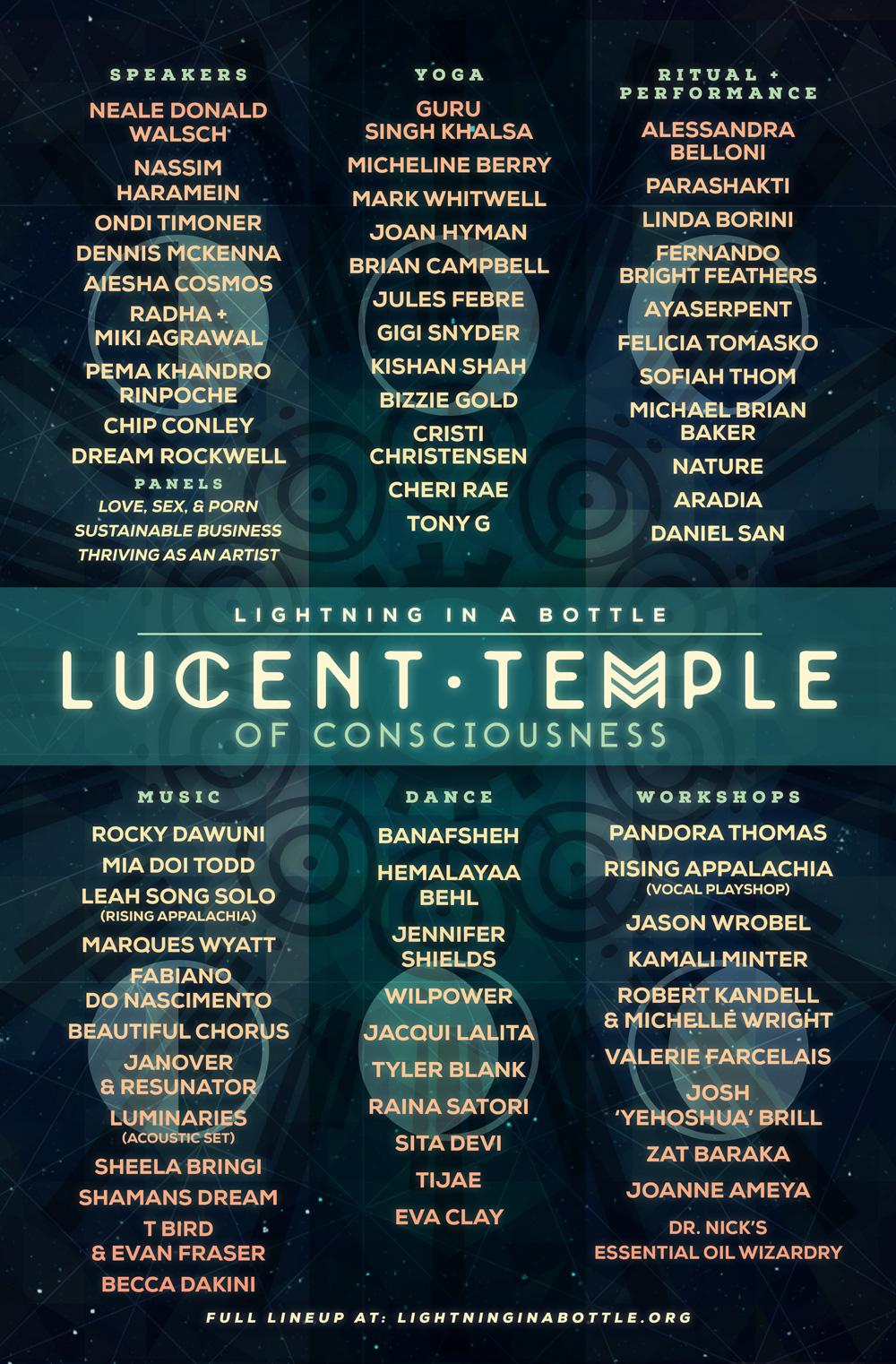 Temple Line up 2015
