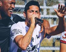 A little karaoke from Matias Laba during a team bonding event in Tucson, Arizona.