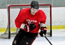 Kyle Turris skates with the Carleton Ravens during the 2012-13 NHL lockout.