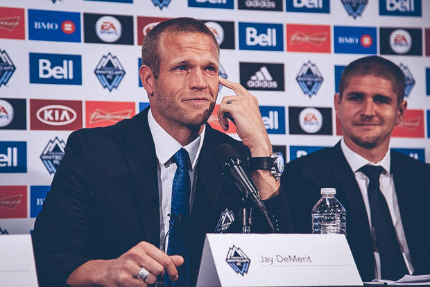 Inaugural Vancouver Whitecaps FC captain Jay DeMerit announces his retirement, ending a 10-year professional career that saw him appear at the top level in England and the FIFA World Cup.